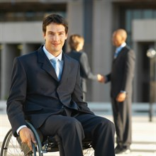 Photo of student on wheelchair
